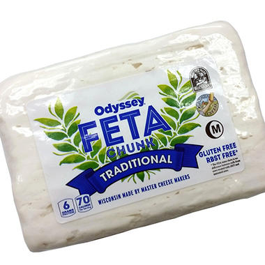 Odyssey Feta Chunk Cheese (priced per pound)