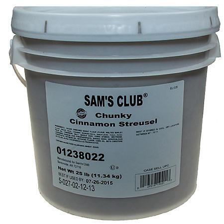 Chunky Cinnamon Streusel, Bulk Wholesale Case (25 lbs.)
