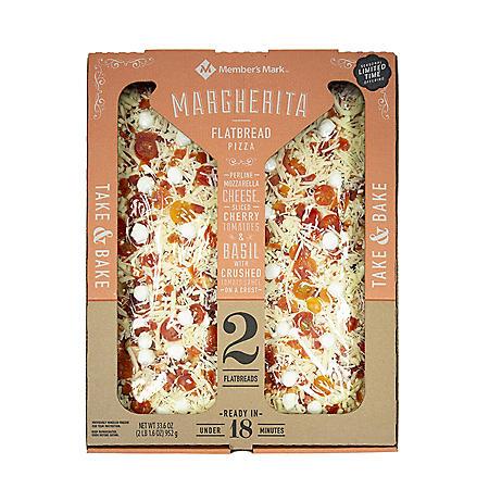Member's Mark Margherita Flatbread Pizza (33.6 oz., 2 pk.)