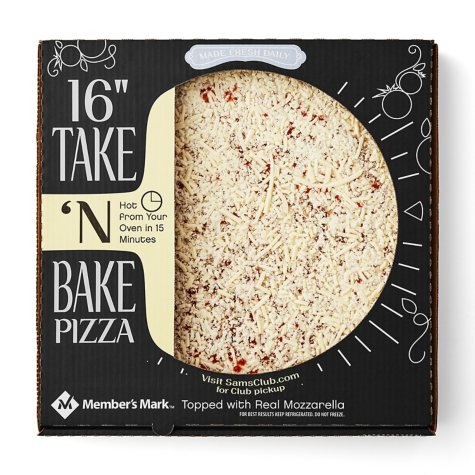 "Member's Mark 16"" Take & Bake Cheese Pizza"