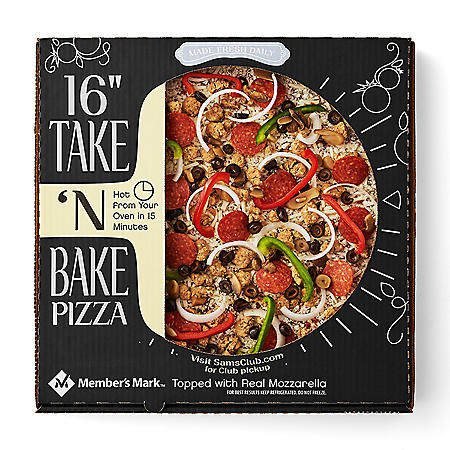 "Member's Mark 16"" Take 'N Bake Deluxe Pizza"