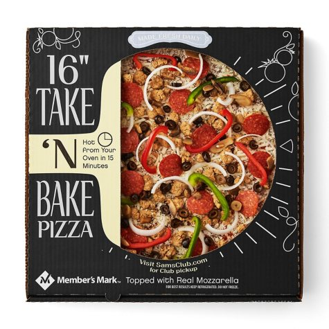 """Member's Mark 16"""" Take & Bake Deluxe Pizza"""