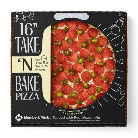 "Member's Mark 16"" Take & Bake Pepperoni Jalapeno Pizza"