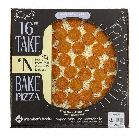 "Member's Mark 16"" Take 'n Bake Pepperoni Pizza"