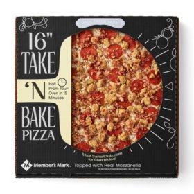 "Member's Mark 16"" Take & Bake Three Meat Pizza"