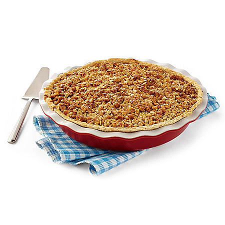 "Daily Chef 12"" Apple Caramel Streusel Pie (58 oz.)"