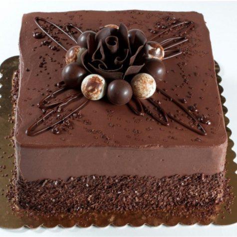 Square Decadent Truffle Cake