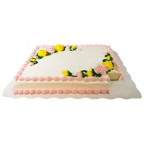 Member's Mark Half Sheet White Cake with White Buttercream Frosting