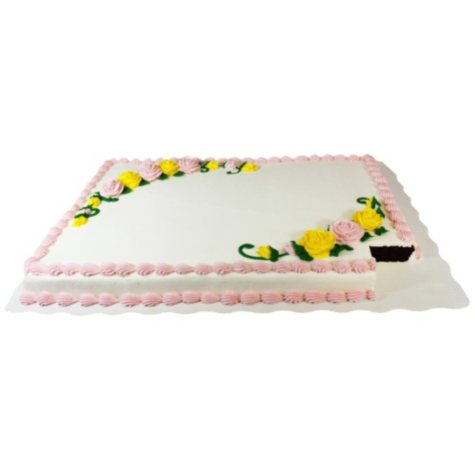 Full Sheet Chocolate Cake - White Whipped