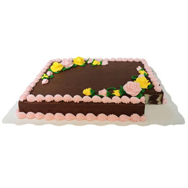 Member's Mark Full Sheet Marble Cake with Chocolate Buttercream