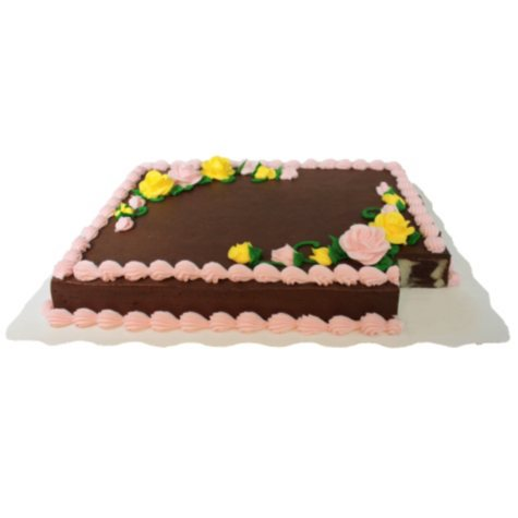 Member's Mark Full Sheet Marble Cake with Chocolate Icing