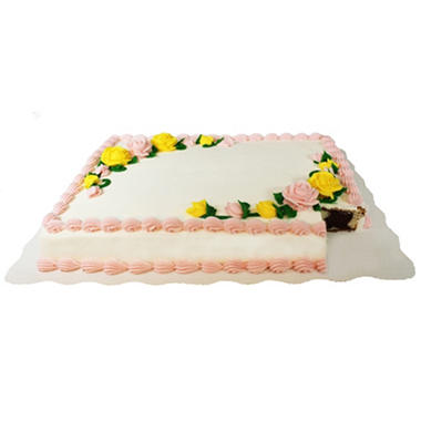 Member's Mark Half Sheet Marble Cake with White Buttercream Frosting
