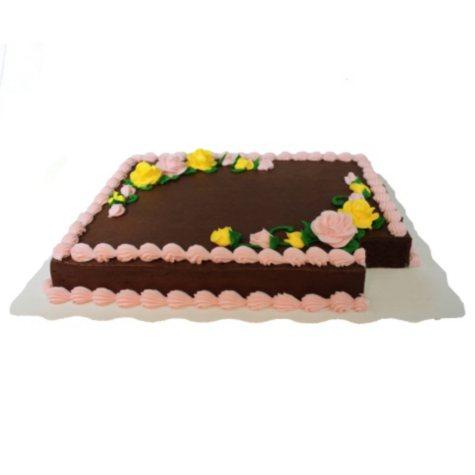 Member's Mark Half Sheet Chocolate Cake with Chocolate Icing