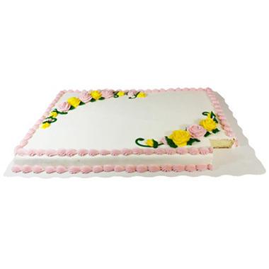 member s mark full sheet white cake with white buttercream frosting