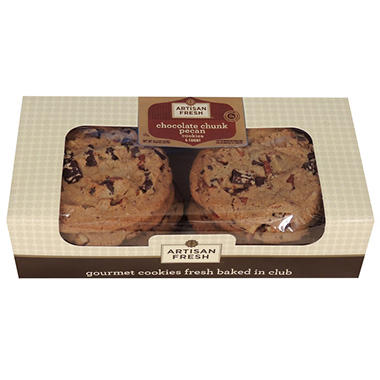 Artisan Fresh Gourmet Chocolate Pecan Cookies - 6 ct.