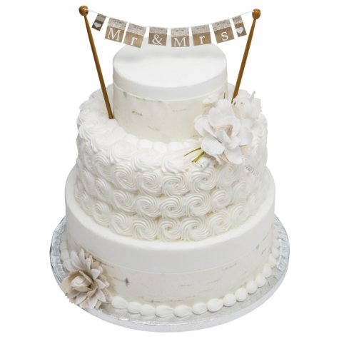 3 Tier White Cake with But'r'creme Icing