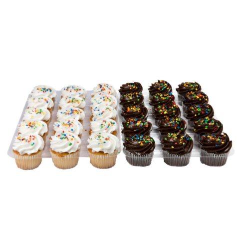 White & Chocolate Cupcakes - White & Chocolate But-r-Creme