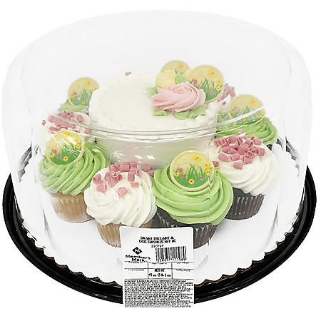"Member's Mark Spring 5"" Cake with 10 Cupcakes"