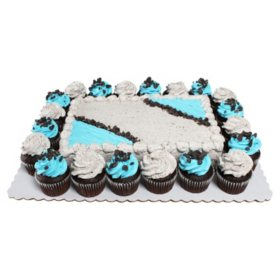 Members Mark Cookies N Creme Quarter Sheet Chocolate Cake With 20 Cupcakes