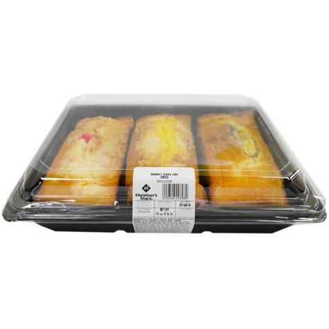 Member's Mark Gourmet Sliced Loaf Cake, Variety Pack (3 loaf cakes)