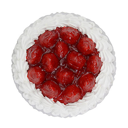 "Member's Mark 10"" Single Layer Fresh Strawberry Topped Cake"