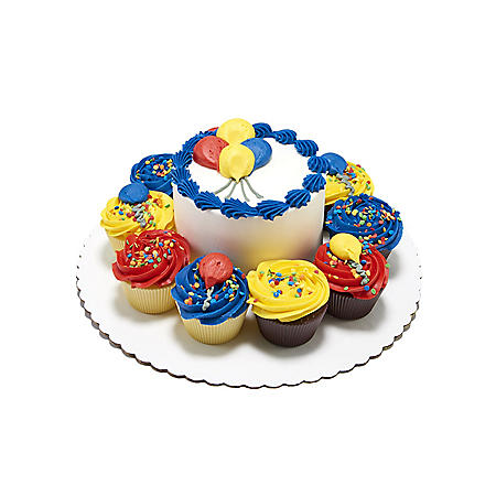 """Member's Mark Chocolate 5"""" Balloon Cake with 10 Cupcakes"""