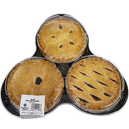 """Member's Mark 6"""" Pie Trio Pack (3 ct.)"""