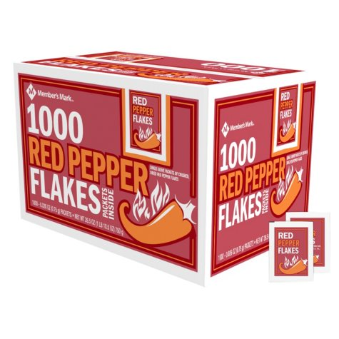 Member's Mark Red Pepper Flakes Single-Serve Packets (1,000 ct.)