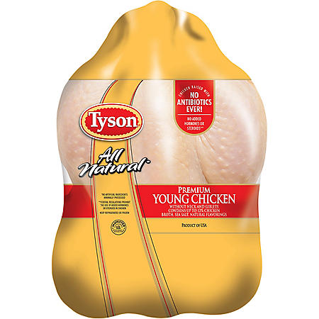 Tyson Premium All Natural Young Chicken, Whole Bird (Priced per Pound)