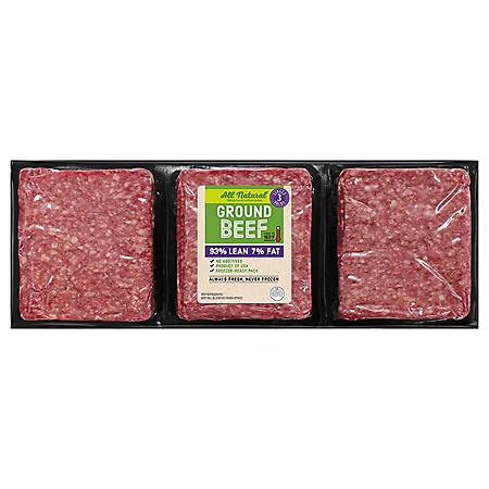 93% Lean Ground Beef (priced per pound)