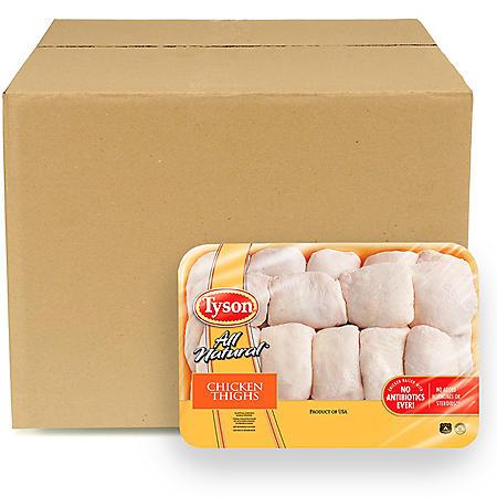 Tyson Skin-On Bone-In Chicken Thighs, Bulk Wholesale Case (priced per pound)