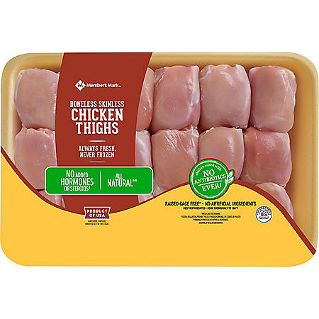 Member's Mark Boneless Skinless Chicken Thigh (priced per pound)