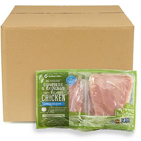 Member's Mark Boneless Skinless Chicken Tenderloins, Bulk Wholesale Case (priced per pound)
