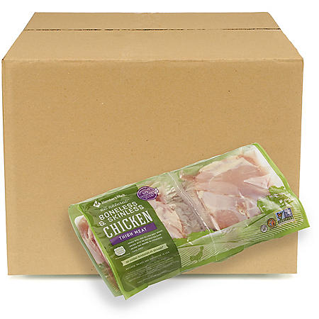 Member's Mark Boneless Skinless Chicken Thighs, Bulk Wholesale Case (priced per pound)