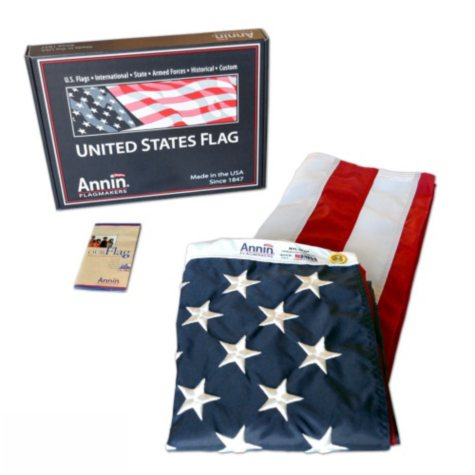 Annin - American Flag 4x6' Nylon SolarGuard with Sewn Stripes and Embroidered Stars