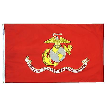 Annin - U.S. Marine Corps Military Flag 3x5 ft. Nylon SolarGuard