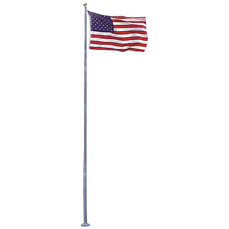 Annin - 20' White Gel-Coat Villager Fiberglass Pole with 4x6' U.S. Flag