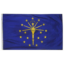 Annin - Indiana state flag 4x6 ft. Nylon SolarGuard