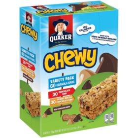 Quaker Chewy Granola Bars Variety Pack (60 pk.)