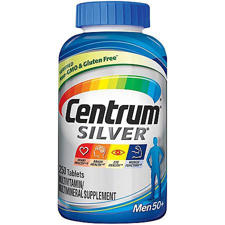 Centrum Silver Men Multivitamin Tablet, Age 50 and Older (250 ct.)