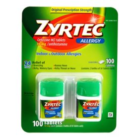 Zyrtec Tablets, 10 Mg, 2 Pk./50 Count
