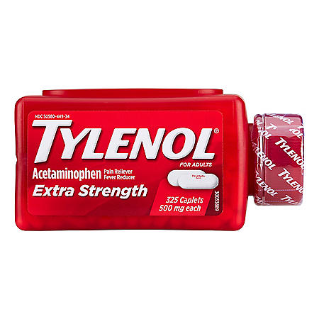 Tylenol Extra Strength Caplets, 500 Mg (325 ct.)