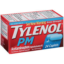 Tylenol PM Extra Strength Acetaminophen Pain Reliever/Nighttime Sleep Aid Caplets (24 ct.)