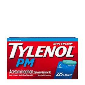 Tylenol PM Extra Strength Caplets, 225 Ct