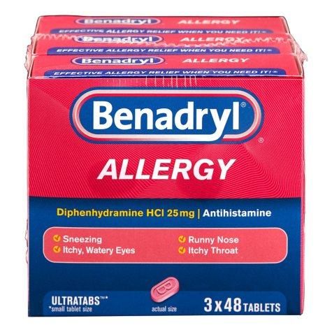 Benadryl Allergy Ultratabs Tablets (48 ct. - 3 pk.)