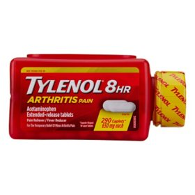 Tylenol 8 HR Arthritis Pain Extended Release Caplets, 650 Mg (290 ct.)