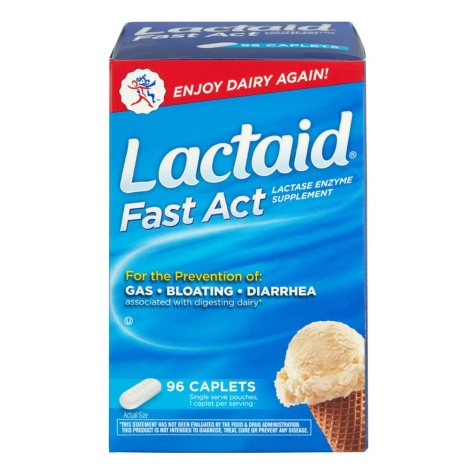 Lactaid Fast Act Caplets (96 ct.)