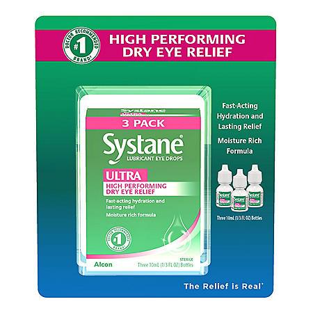 Systane Ultra Lubricant Eye Drops (1/3 fl. oz., 3 pk.)