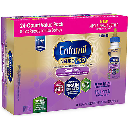 Enfamil NeuroPro Gentlease Infant Formula with Iron, Ready-to-Feed (8 fl. oz., 24 ct.)