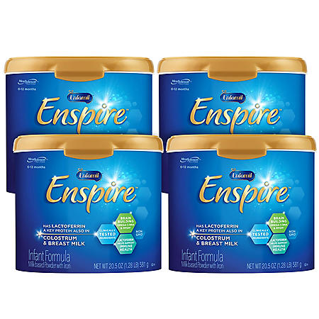 Enfamil Enspire Infant Formula Milk-based Powder with Iron (20.5 oz., 4 pk.)